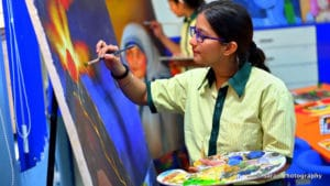 School in Ghaziabad - Panting Session - Vidya Bharati School